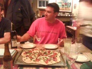 matt and pizza